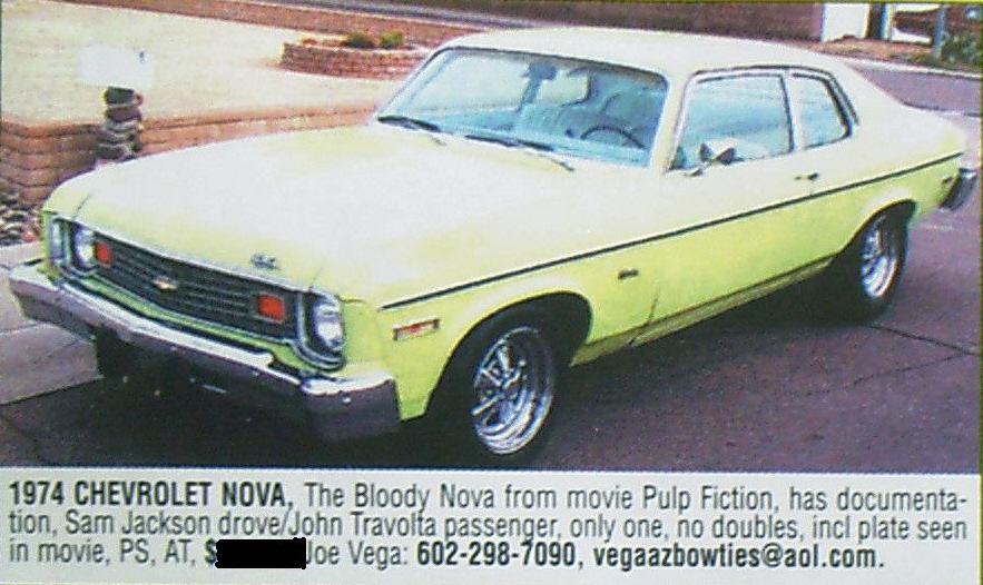 Image result for 1974 chevrolet nova pulp fiction
